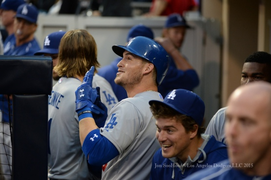 Los Angeles Dodgers during game against the San Diego Padres Saturday, June 13, 2015 at Petco Park in San Diego,California.The  Padres beat the Dodgers 2-1.  Photo by Jon SooHoo/© Los Angeles Dodgers,LLC 2015