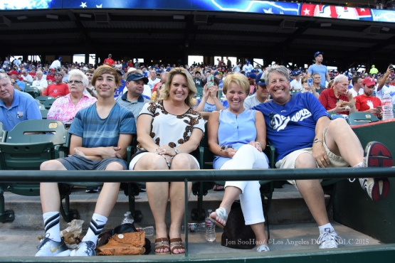 Los Angeles Dodgers during game against the Texas Rangers Monday, June 15, 2015 at  Globe Life Park in Arlington Park,Texas. The Rangers beat the Dodgers 4-1.  Photo by Jon SooHoo/© Los Angeles Dodgers,LLC 2015