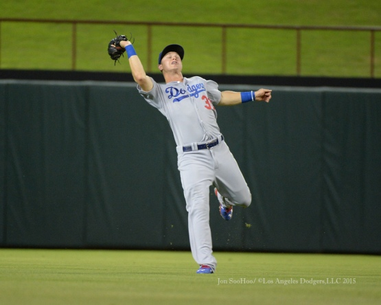 Los Angeles Dodgers during game against the Texas Rangers Tuesday, June 16, 2015 at  Globe Life Park in Arlington Park,Texas. The Rangers beat the Dodgers 3-2.  Photo by Jon SooHoo/© Los Angeles Dodgers,LLC 2015