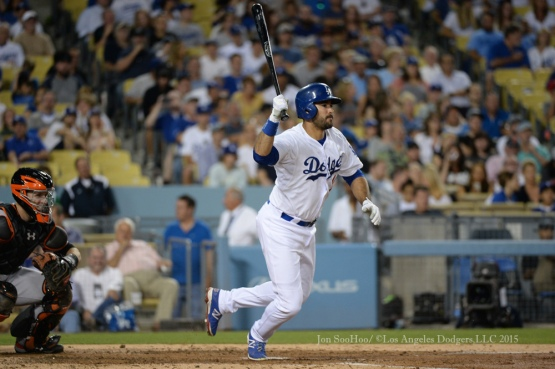 Los Angeles Dodgers during game against the Texas Rangers Friday, June 19, 2015 at Dodger Stadium. Photo by Jon SooHoo/ ©Los Angeles Dodgers,LLC 2015