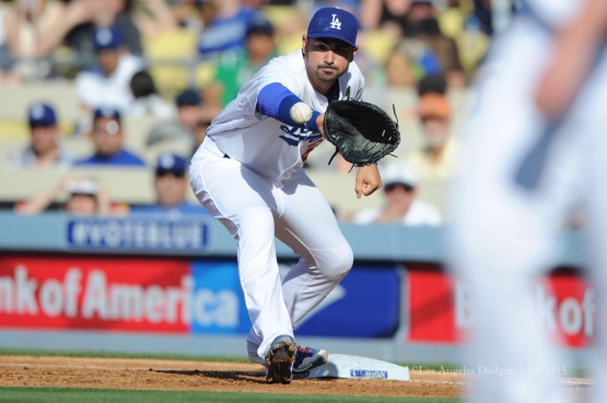 Los Angeles Dodgers during game against the San Francisco Giants Sunday, June 21, 2015 at Dodger Stadium. Photo by Jon SooHoo/ ©Los Angeles Dodgers,LLC 2015