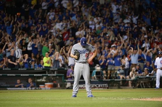 Los Angeles Dodgers during game against the Chicago Cubs Monday, June 22, 2015 at Wrigley Field in Chicago, Illinois. The Cubs beat the Dodgers 4-2. Photo by Jon SooHoo/©Los Angeles Dodgers,LLC 2015