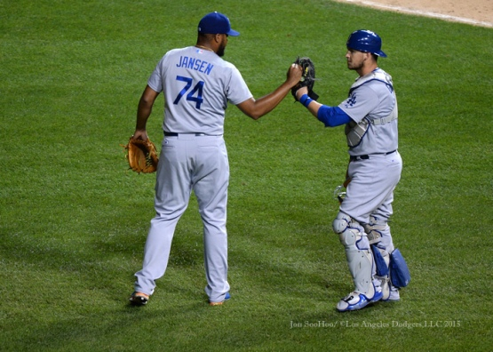 Los Angeles Dodgers during game against the Chicago Cubs Wednesday, June 24, 2015 at Wrigley Field in Chicago, Illinois. The Dodgers beat the Cubs 5-2. Photo by Jon SooHoo/©Los Angeles Dodgers,LLC 2015