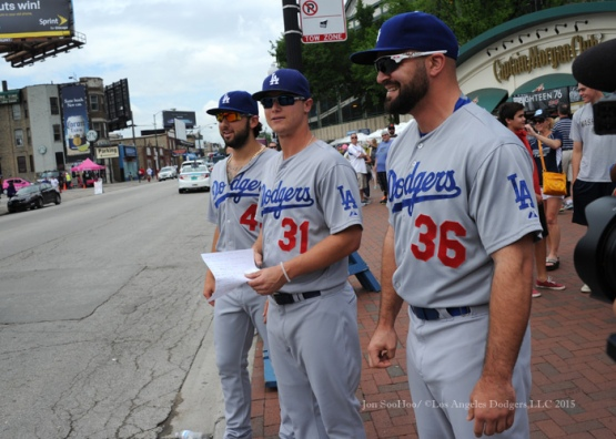 Los Angeles Dodgers during game against the Chicago Cubs Thursday, June 25, 2015 at Wrigley Field in Chicago, Illinois. The Dodgers beat the Cubs 4-0. Photo by Jon SooHoo/©Los Angeles Dodgers,LLC 2015
