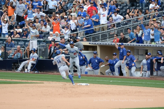 Los Angeles Dodgers during game against the San Diego Padres Sunday, June 14, 2015 at Petco Park in San Diego,California.The  Dodgers beat the Padres 4-2..  Photo by Jon SooHoo/© Los Angeles Dodgers,LLC 2015