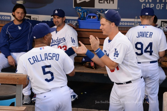 Los Angeles Dodgers during game against the Texas Rangers Thursday, June 18, 2015 at Dodger Stadium. Photo by Jon SooHoo/©Los Angeles Dodgers,LLC 2015