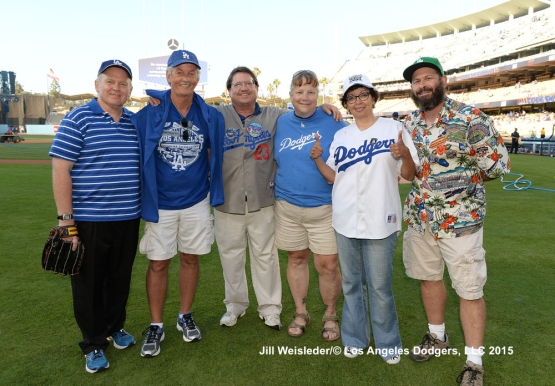Dodger fans pose for a photo prior to the start of the game. Jill Weisleder/LA Dodgers