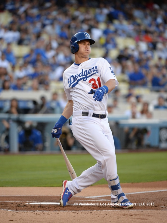 Joc Pederson reacts after striking out. Jill Weisleder/LA Dodgers