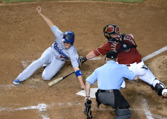 Los Angeles Dodgers during game against the Arizona Diamondbacks Wednesday, July 1, 2015 at Chase Field in Phoenix, Arizona. Dodgers beat the Diamondbacks 4-3. Photo by Jon SooHoo/©Los Angeles Dodgers,LLC 2015