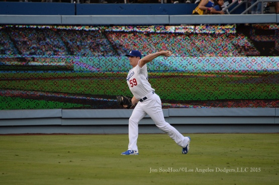 Los Angeles Dodgers game against the Philadelphia Phillies Monday, July 6, 2015 at Dodger Stadium in Los Angeles,California.  Photo by Jon SooHoo/©Los Angeles Dodgers,LLC 2015