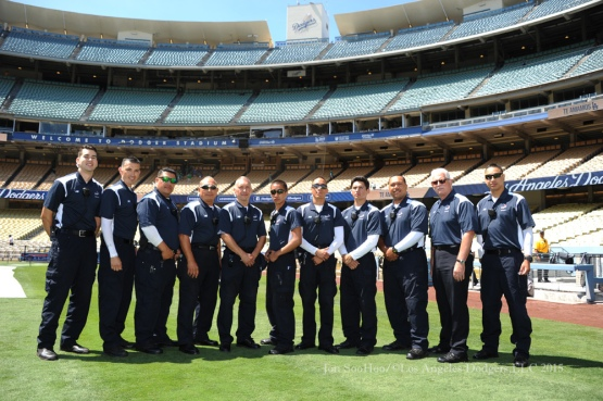 Los Angeles Dodgers during game against the Milwaukee Brewers Sunday, July 12, 2015 at Dodger Stadium. Photo by Jon SooHoo/©Los Angeles Dodgers,LLC 2015.