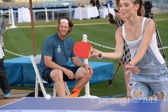 Clayton Kershaw Third Annual Ping Pong Tournament Thursday, July 30, 2015 at Dodger Stadium in Los Angeles,California.  Photo by © Jon SooHoo/2015