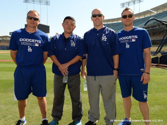 Dodger athletic trainers and strength and conditioning coaches were on hand to host the 2015 National PLAY Campaign held at Dodger Stadium. Jill Weisleder/LA Dodgers