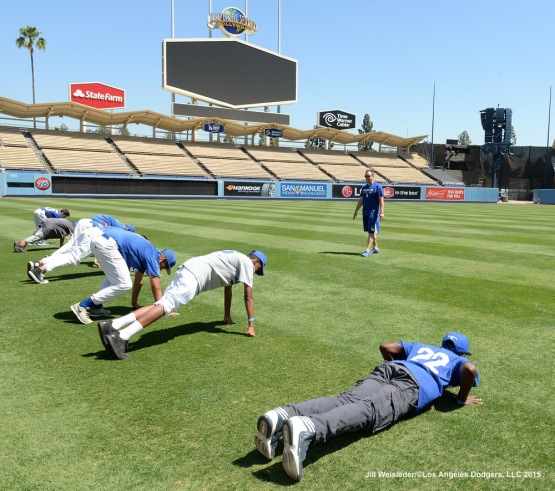The Los Angeles Dodgers host the 2015 National PLAY Campaign Clinic at Dodger Stadium in Los Angeles, California. Jill Weisleder/LA Dodgers