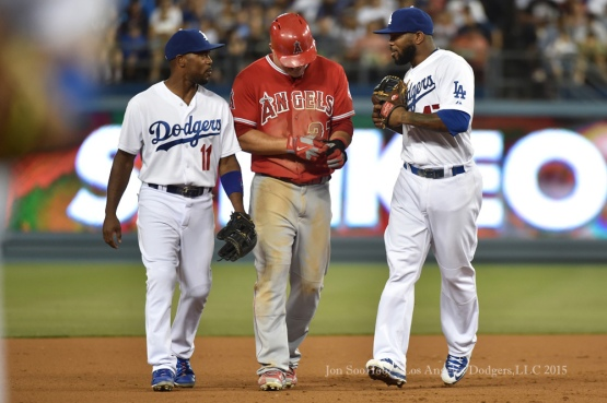 Los Angeles Dodgers vs Los Angeles Angels of Anaheim Friday, July 31, 2015 at Dodger Stadium in Los Angeles, California. Photo by Jon SooHoo/©Los Angeles Dodgers,LLC 2015