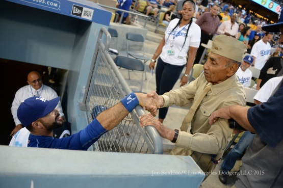 Los Angeles Dodgers vs the Washington Nationals Monday, August 10, 2015 at Dodger Stadium in Los Angeles, California. Photo by Jon SooHoo/©Los Angeles Dodgers,LLC 2015