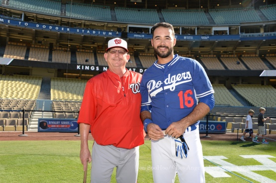 Los Angeles Dodgers vs the Washington Nationals Wednesday, August 12, 2015 at Dodger Stadium in Los Angeles, California. Photo by Jon SooHoo/ ©Los Angeles Dodgers,LLC 2015