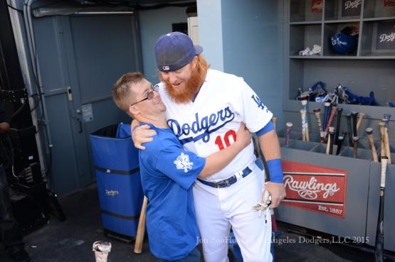 Los Angeles Dodgers vs Cincinnati Reds  Saturday, August 15, 2015 at Dodger Stadium in Los Angeles, California. Photo by Jon SooHoo/ ©Los Angeles Dodgers,LLC 2015