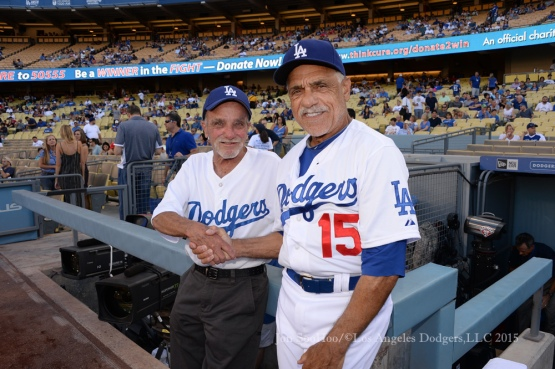 Los Angeles Dodgers vs Cincinnati Reds  Saturday, August 15, 2015 at Dodger Stadium in Los Angeles, California. Photo by Jon SooHoo/ ©Los Angeles Dodgers,LLC 2015