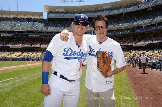 Los Angeles Dodgers vs Cincinnati Reds  Sunday, August 16, 2015 at Dodger Stadium in Los Angeles, California. Photo by Jon SooHoo/ ©Los Angeles Dodgers,LLC 2015
