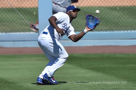 Los Angeles Dodgers vs Cincinnati Reds  Sunday, August 16, 2015 at Dodger Stadium in Los Angeles, California. Photo by Jon SooHoo/ ©Los Angeles Dodgers,LLC 2015