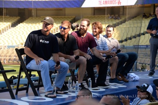 Los Angeles Dodgers Christian Faith Day   Sunday, August 16, 2015 at Dodger Stadium in Los Angeles, California. Photo by Jon SooHoo/ ©Los Angeles Dodgers,LLC 2015