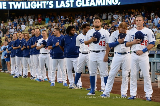 Los Angeles Dodgers during game against the Chicago Cubs Friday, August 28,2015 at Dodger Stadium in Los Angeles,California. Photo by Jon SooHoo/©Los Angeles Dodgers,LLC 2015