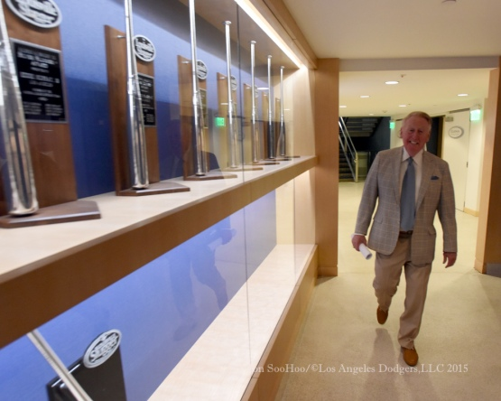 Vin Scully Press Conference prior to game against the Chicago Cubs Saturday, August 29, 2015 at Dodger Stadium in Los Angeles,California. Photo by Jon SooHoo/©Los Angeles Dodgers,LLC 2015