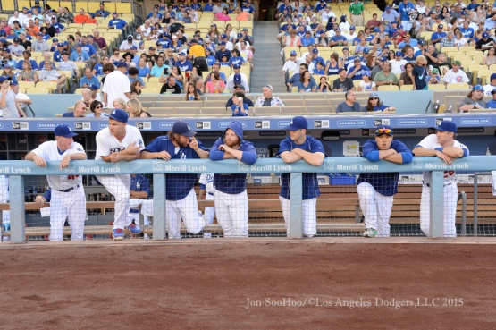Los Angeles Dodgers against the Chicago Cubs Saturday, August 29, 2015 at Dodger Stadium in Los Angeles,California. Photo by Jon SooHoo/©Los Angeles Dodgers,LLC 2015