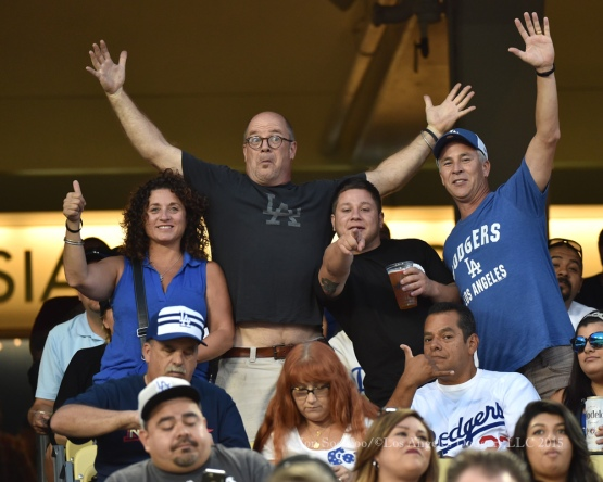 Los Angeles Dodgers vs San Francisco Giants Monday, August 31, 2015 at Dodger Stadium in Los Angeles,California. Photo by Jon SooHoo/©Los Angeles Dodgers,LLC 2015