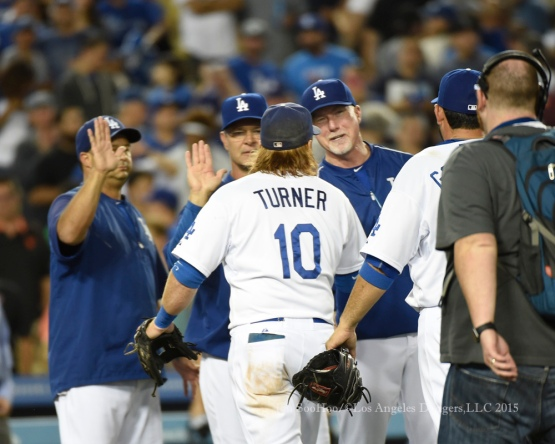 Los Angeles Dodgers vs San Francisco Giants Tuesday, September 1, 2015 at Dodger Stadium in Los Angeles,California. Photo by Jon SooHoo/©Los Angeles Dodgers,LLC 2015