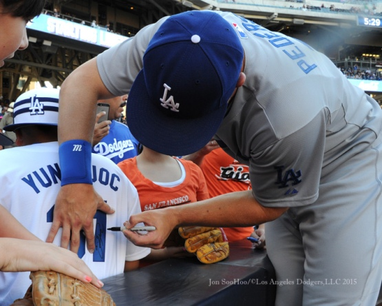 Los Angeles Dodgers vs San Diego Padres Saturday, September 5, 2015 at Petco Park in San Diego, California. Photo by Jon SooHoo/©Los Angeles Dodgers,LLC 2015