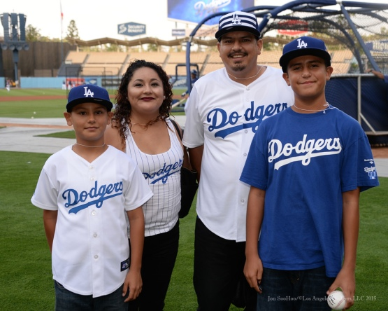 Great Dodger Fans--Los Angeles Dodgers vs Colorado Rockies Tuesday, September 15,2015 at Dodger Stadium in Los Angeles, California. Photo by Jon SooHoo/ ©Los Angeles Dodgers,LLC 2015