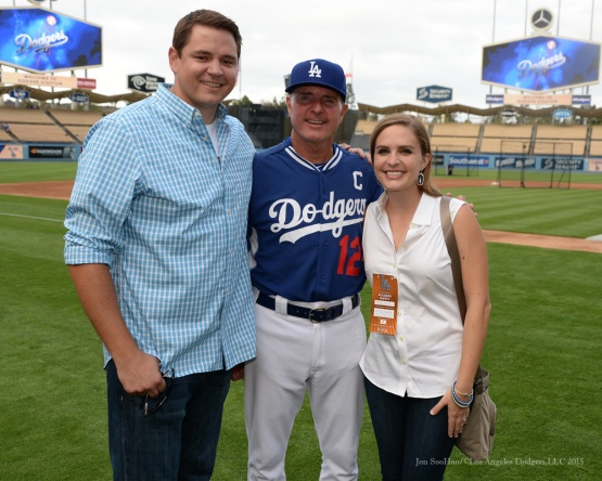 The Shoemaker family--Los Angeles Dodgers vs Colorado Rockies Tuesday, September 15,2015 at Dodger Stadium in Los Angeles, California. Photo by Jon SooHoo/ ©Los Angeles Dodgers,LLC 2015