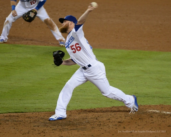 J.P. Howell-Los Angeles Dodgers vs Colorado Rockies Tuesday, September 15,2015 at Dodger Stadium in Los Angeles, California. Photo by Jon SooHoo/ ©Los Angeles Dodgers,LLC 2015
