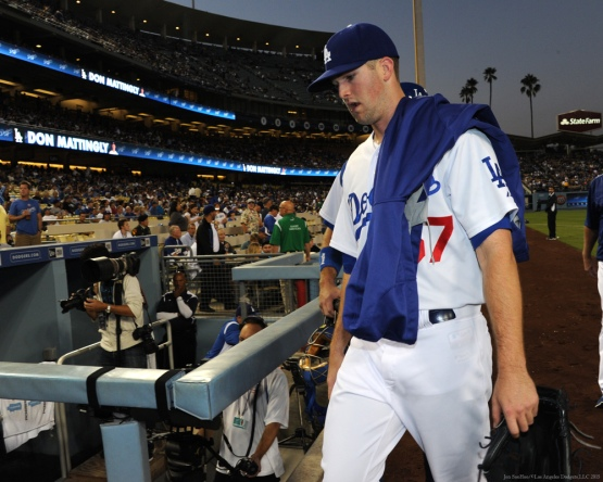 Alex Wood--Los Angeles Dodgers vs Colorado Rockies Wednesday, September 16, 2015 at Dodger Stadium in Los Angeles, California. Photo by Jon SooHoo/ ©Los Angeles Dodgers,LLC 2015