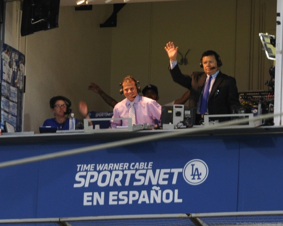 Fernando Valenzuela waves to the crowd--Los Angeles Dodgers vs Colorado Rockies Wednesday, September 16, 2015 at Dodger Stadium in Los Angeles, California. Photo by Jon SooHoo/ ©Los Angeles Dodgers,LLC 2015