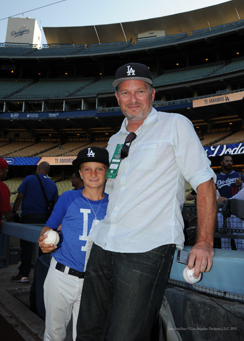 Great Dodger fans--Los Angeles Dodgers vs Arizona Diamondbacks Tuesday, September 22, 2015 at Dodger Stadium in Los Angeles,California. Photo by Jon SooHoo/© Los Angeles  Dodgers,LLC 2015