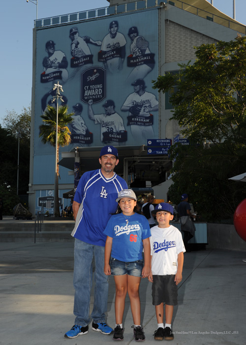 Great Dodger fans  Tuesday, September 22, 2015 at Dodger Stadium in Los Angeles,California. Photo by Jon SooHoo/© Los Angeles  Dodgers,LLC 2015