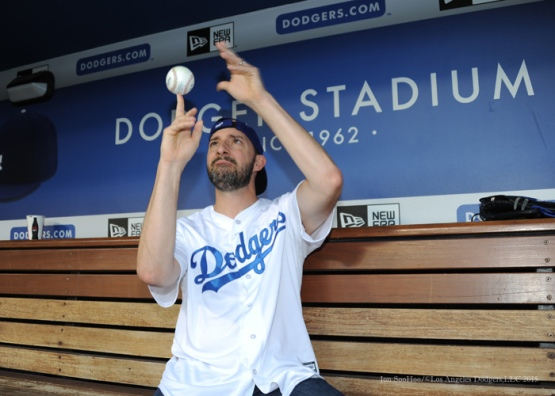 Actor Tony Hale  Tuesday, September 22, 2015 at Dodger Stadium in Los Angeles,California. Photo by Jon SooHoo/© Los Angeles  Dodgers,LLC 2015