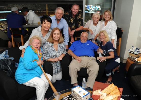 The extended Lasorda family--Los Angeles Dodgers vs Arizona Diamondbacks Tuesday, September 22, 2015 at Dodger Stadium in Los Angeles,California. Photo by Jon SooHoo/© Los Angeles  Dodgers,LLC 2015