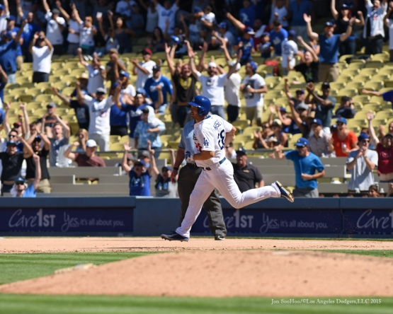 Los Angeles Dodgers vs Arizona Diamondbacks Thursday, September 24, 2015 at Dodger Stadium in Los Angeles,California. Photo by Jon SooHoo/© Los Angeles  Dodgers,LLC 2015