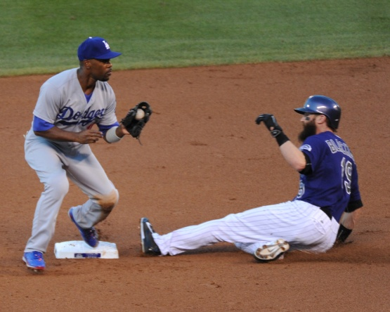Los Angeles Dodgers vs Colorado Rockies Friday, September 25, 2015 at Coors Field in Denver,Colorado. The Rockies beat the Dodgers 7-4. Photo by Jon SooHoo/©Los Angeles Dodgers,LLC 2015
