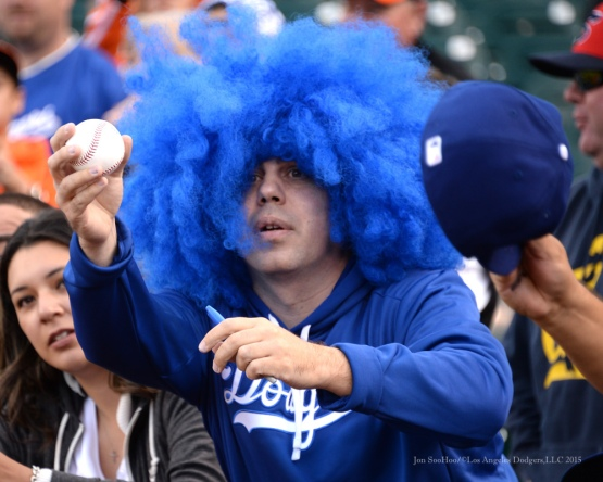 Los Angeles Dodgers vs San Francisco Giants Monday September 28, 2015 at AT&T Park in San Francisco, California.Photo by Jon SooHoo /©Los Angeles Dodgers,LLC 2015