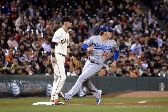 Los Angeles Dodgers vs San Francisco Giants Tuesday September 29, 2015 at AT&T Park in San Francisco, California. The Dodgers clinch the NL West winning 8-0. Photo by Jon SooHoo /©Los Angeles Dodgers,LLC 2015