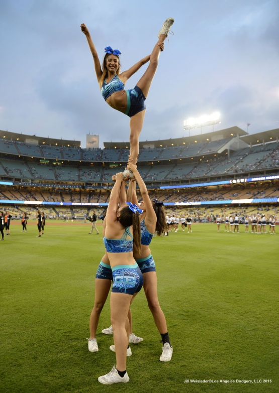 The Dodgers had Cheer Night at Dodger Stadium prior to the game against the Arizona Diamondbacks. Jill Weisleder/LA Dodgers