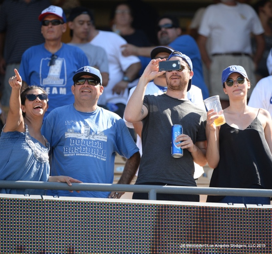 Dodger fans enjoy watching the game against the Arizona Diamondbacks. Jill Weisleder/LA Dodgers