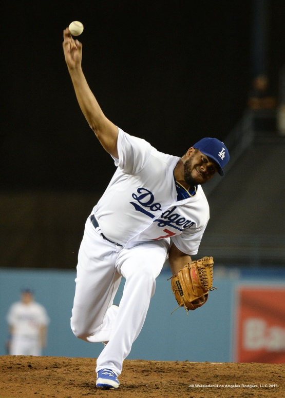 Kenley Jansen comes in to finish in the ninth inning. Jill Weisleder/LA Dodgers