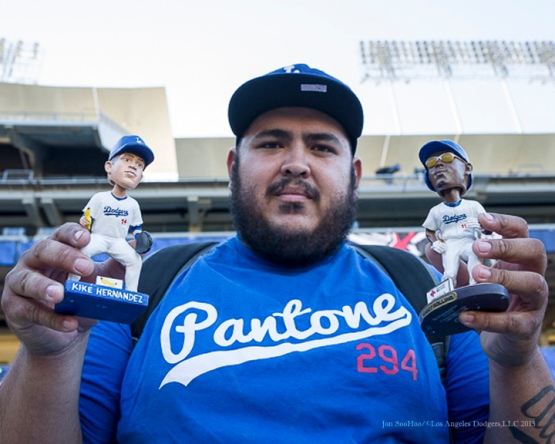 Great Dodger Fan!!!--Los Angeles Dodgers vs Pittsburgh Pirates Saturday, September 19, 2015 at Dodger Stadium in Los Angeles,California. Photo by Jon SooHoo/© Los Angeles  Dodgers,LLC 2015