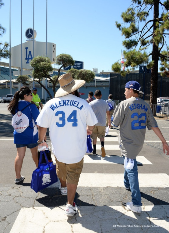 Fans get ready to see the Dodgers take on the Pittsburgh Pirates. Jill Weisleder/LA Dodgers